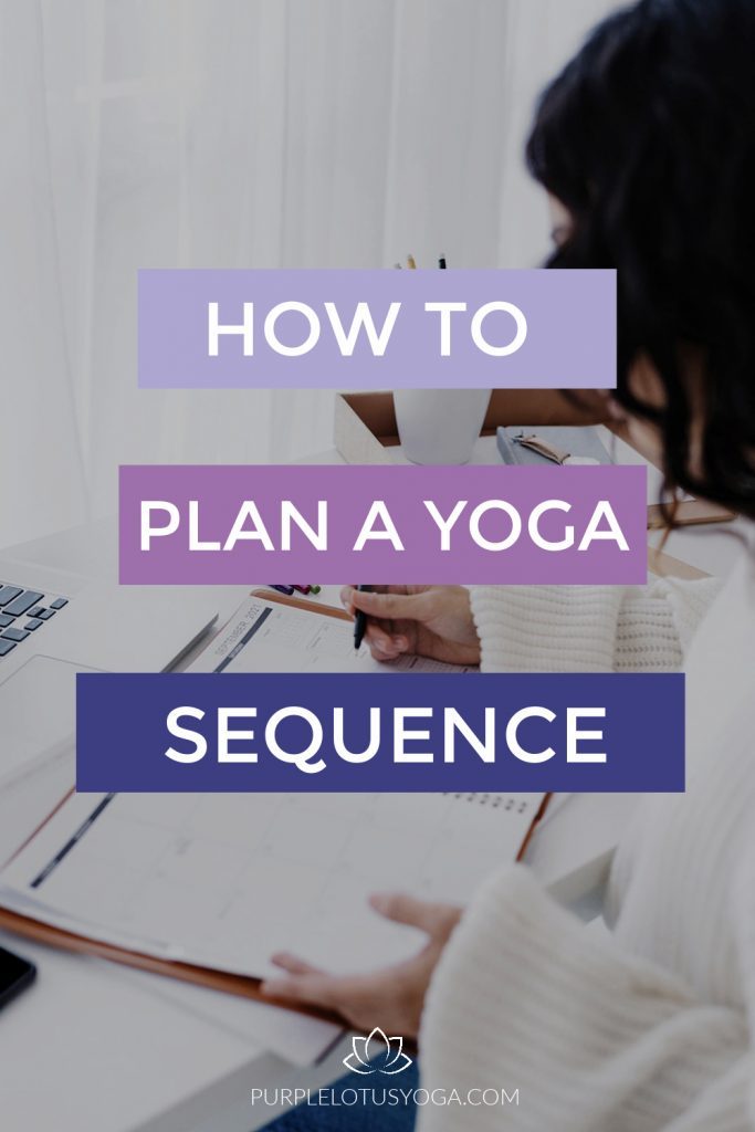 how to plan a yoga sequence