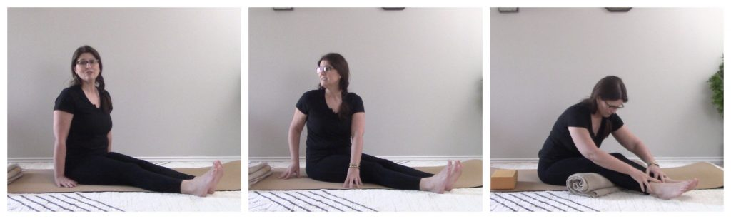 how to do seated forward bend variations