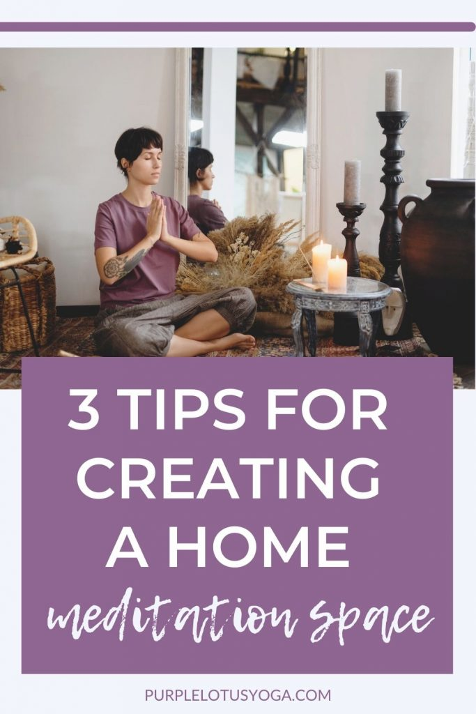3 tips for creating a home meditation space
