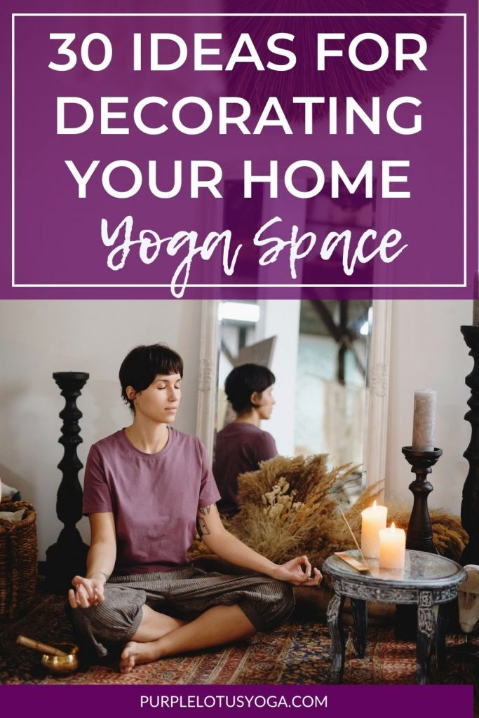 30 ideas for decorating your home yoga space