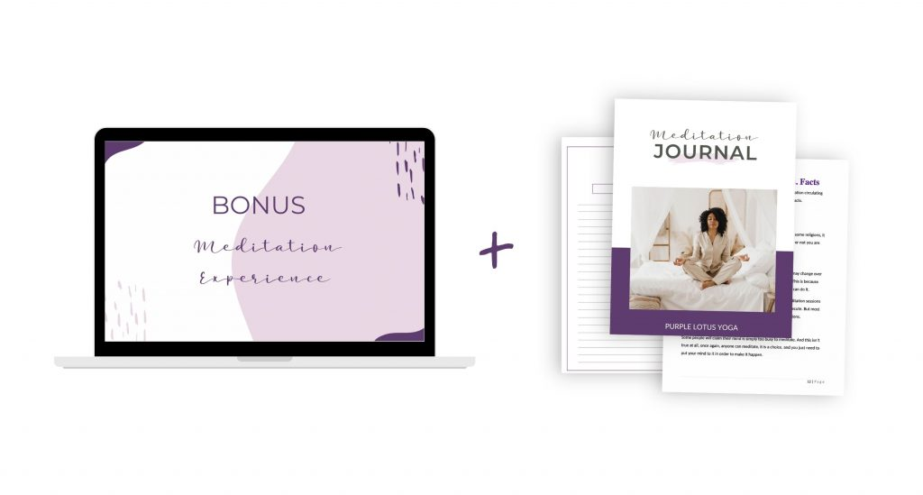 meditation experience and journal mockup