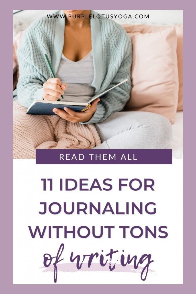 11 ideas for journaling without tons of writing