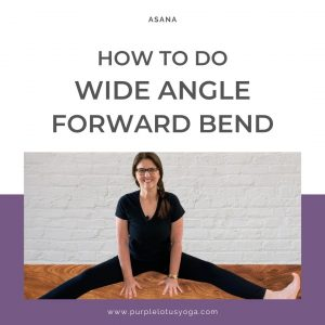 how to do wide angle forward bend in yoga