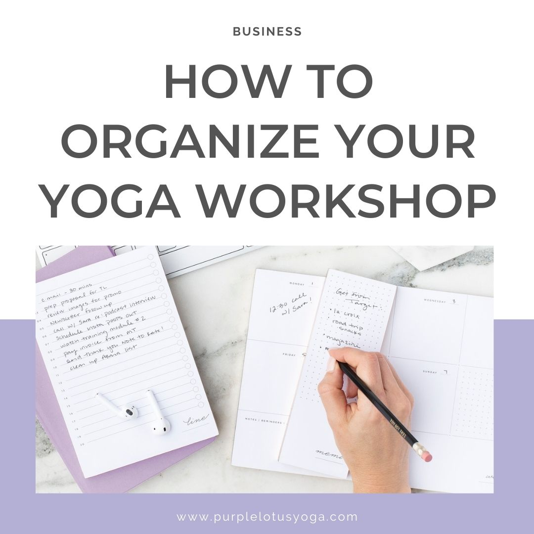 how to organize your yoga workshop