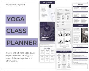 yoga class planner product feature image